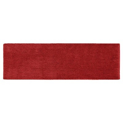 "22""x60"" Sheridan Plush Washable Nylon Bath Runner Chili Pepper Red - Garland"