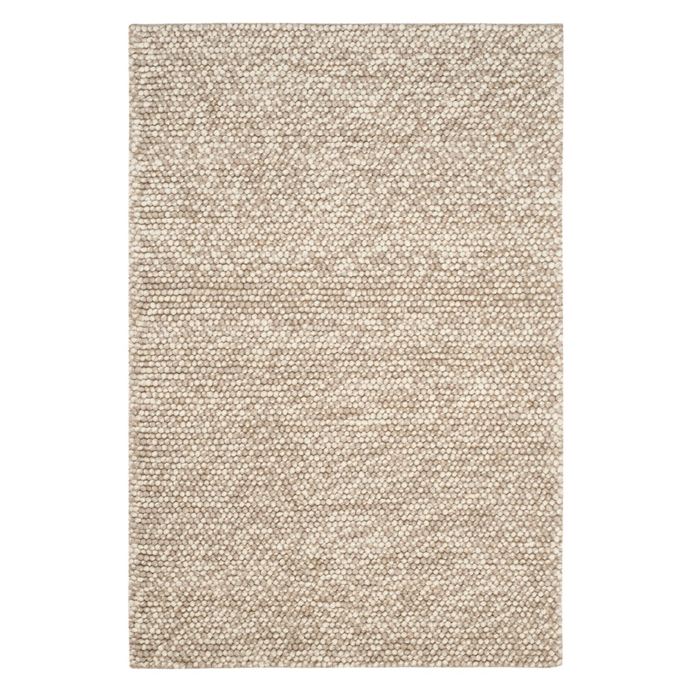 3'X5' Solid Woven Accent Rug Beige - Safavieh