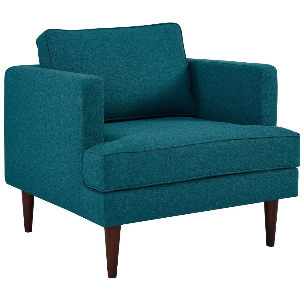 Agile Upholstered Fabric Armchair Teal (Blue) - Modway