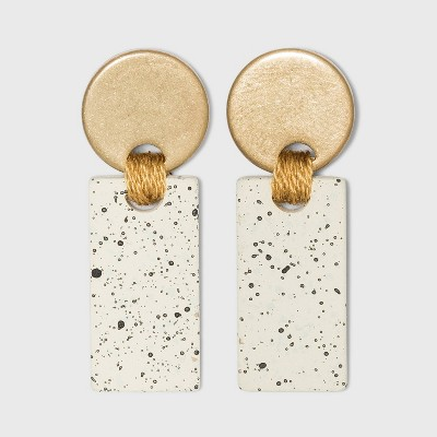Speckled Disc and Bar Drop Earrings - Universal Thread™