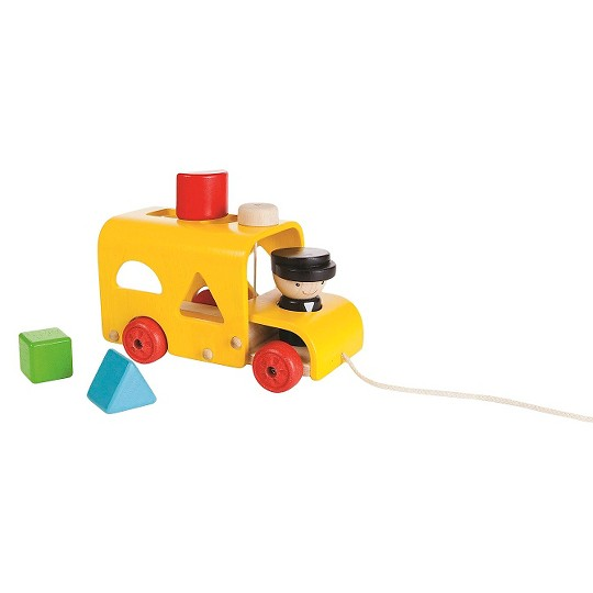 PlanToys Sorting Bus, stacking and sorting toys image number null