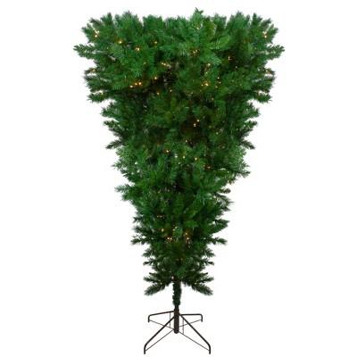 Northlight 7' Prelit Artificial Christmas Tree LED Sugar Pine Upside Down - Clear Lights