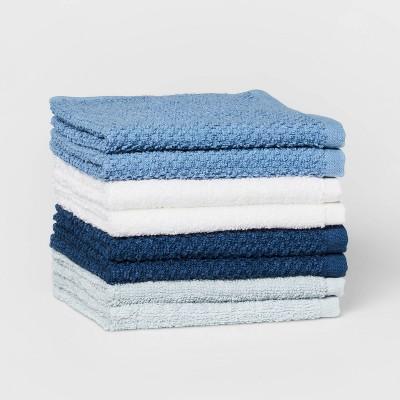 "8pc 12""x12"" Washcloth Set Blue - Pillowfort™"