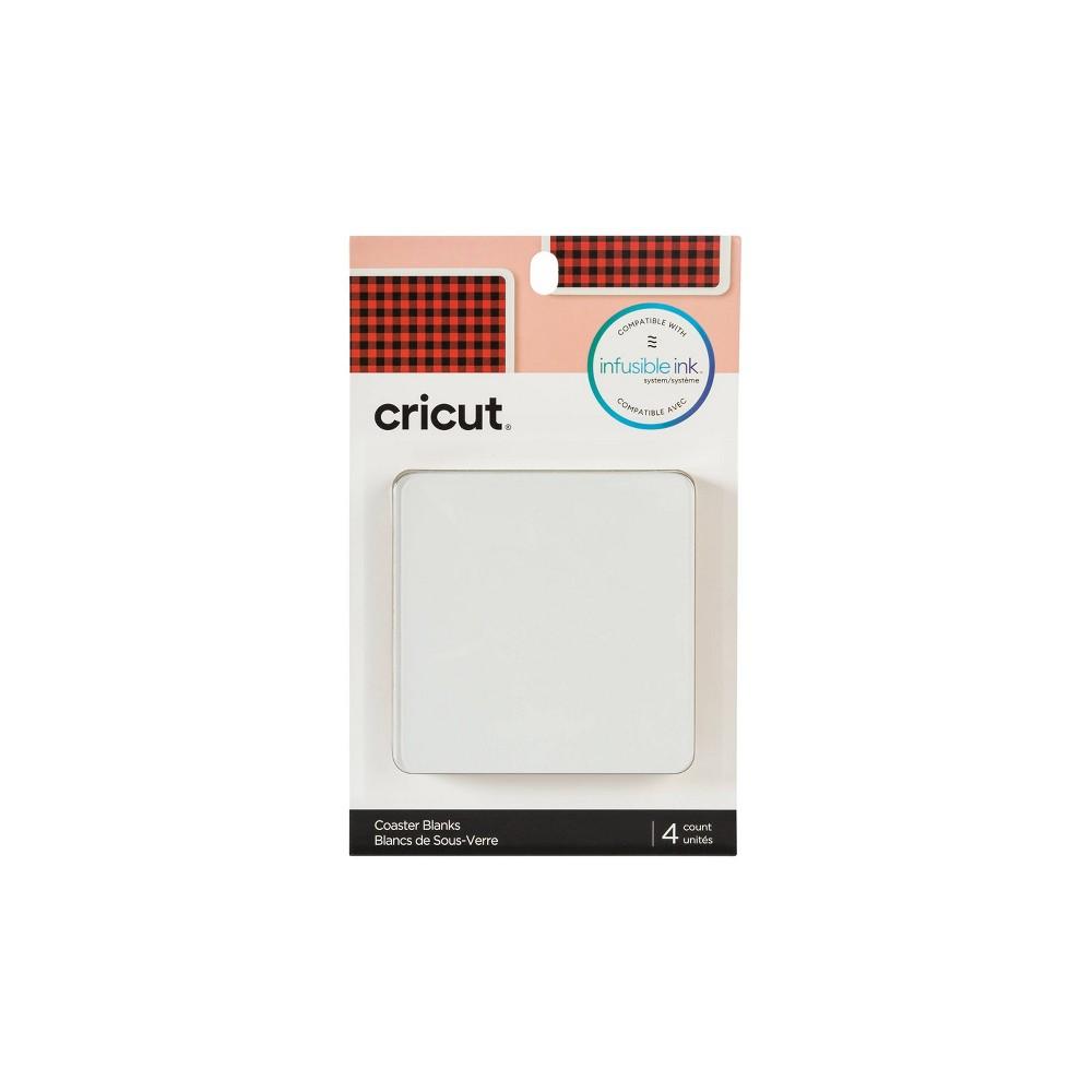 Image of Cricut Aluminum Square Blank Coaster Set - 4pk, White