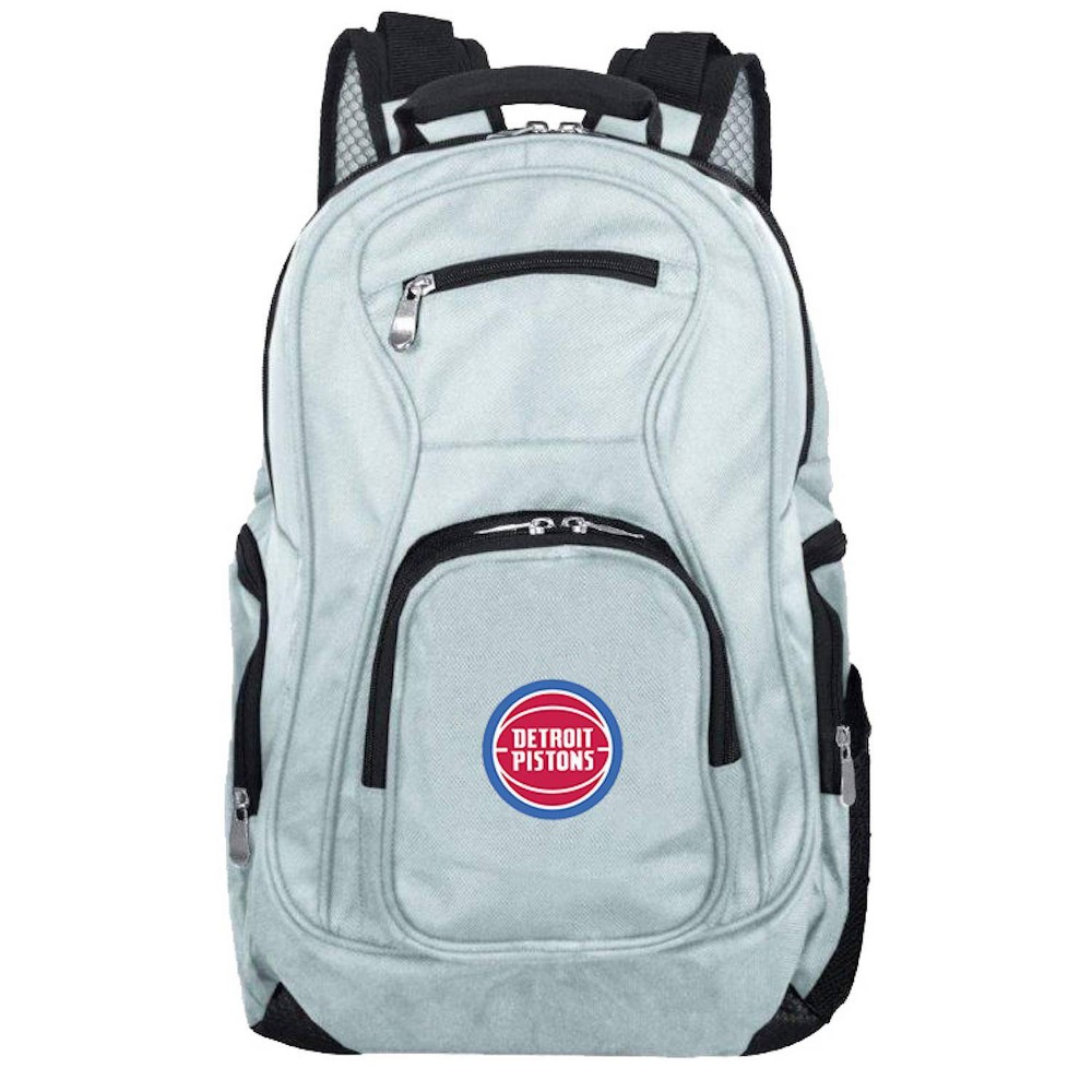 NBA Detroit Pistons Gray Laptop Backpack, Size: Small