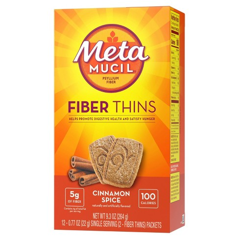 Metamucil Multi-grain Fiber Wafers - Cinnamon Spice - 12ct - image 1 of 9