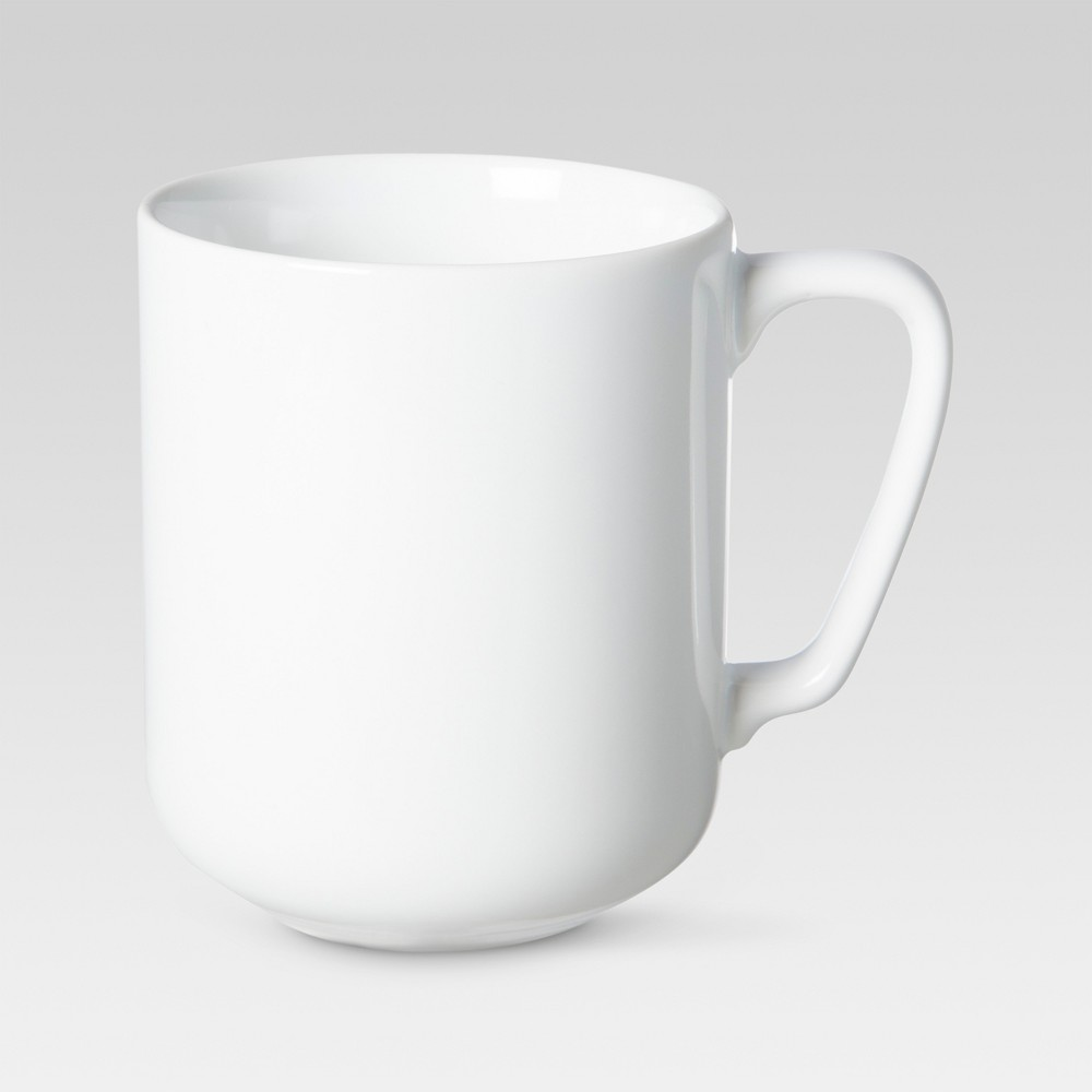 Casual Modern Round Mug 13.53oz Set of 4 - White - Threshold
