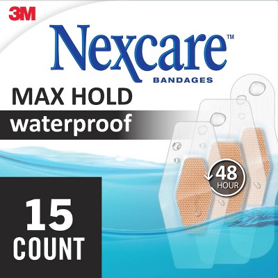 Nexcare Max Hold Waterproof Assorted Bandages - 15ct