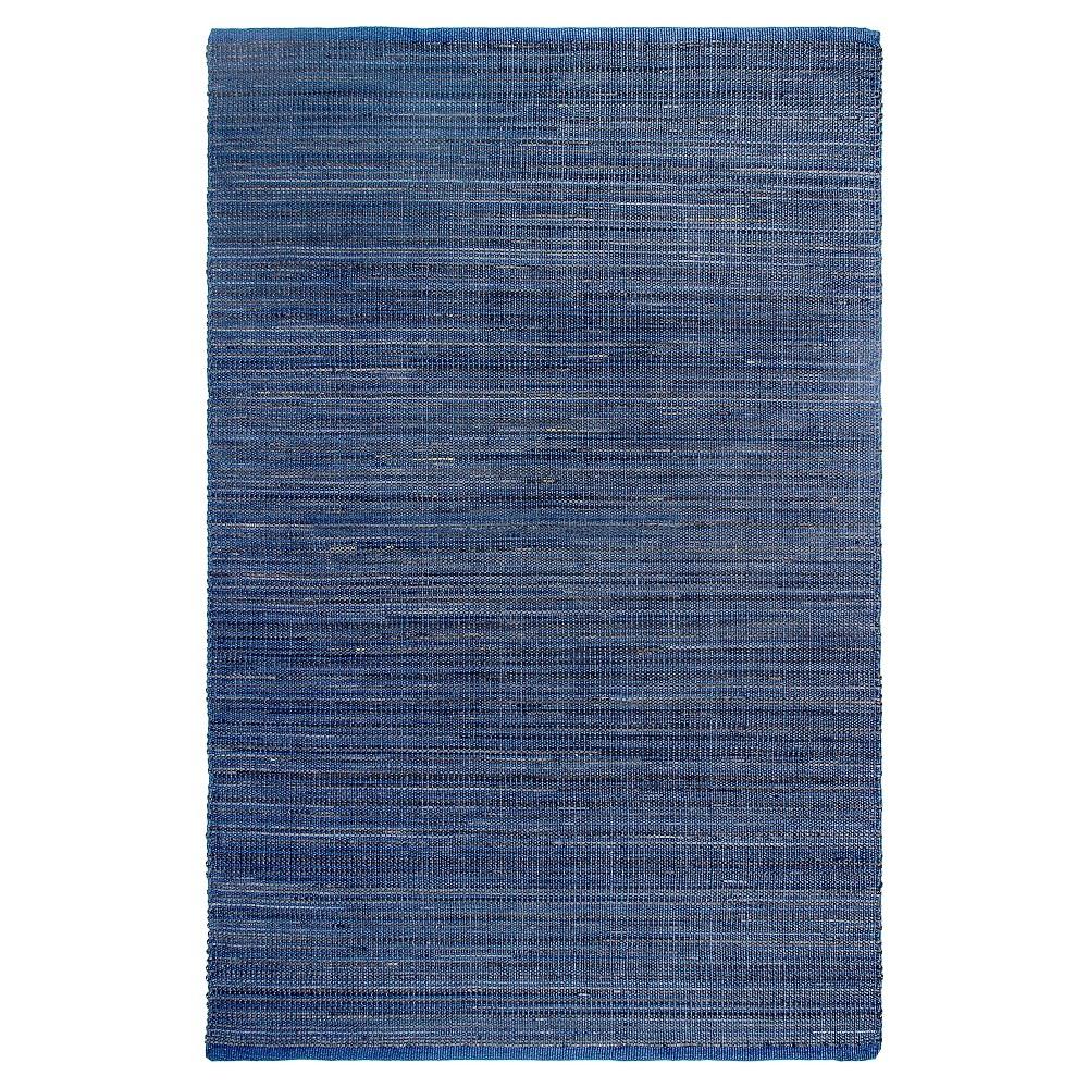 Image of Kismet Patio Rug Indigo 2' x 3' - Fab Habitat, Size: 2'X3', Blue