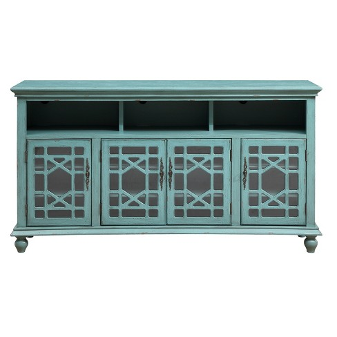 Baie Four Door Media Credenza - Bayberry Blue  - Christopher Knight Home - image 1 of 4