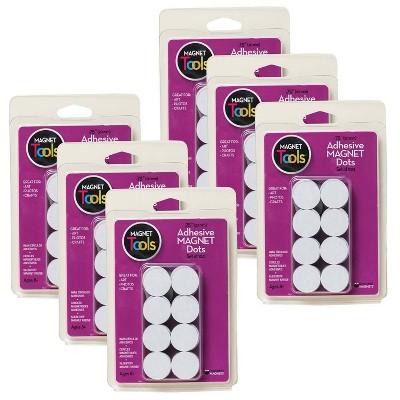 6pk 100 per Pack Adhesive Magnet Dots - Dowling Magnets