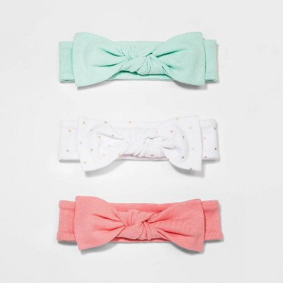 Baby Girls' Floral Fields 3pk Headbands - Cloud Island™ 0-6M