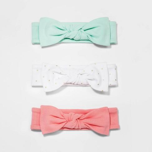 Baby Girls' Floral Fields 3pk Headbands - Cloud Island™ 0-6M - image 1 of 1