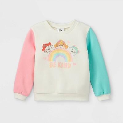Toddler Girls' PAW Patrol Fleece Crew Neck Pullover - Cream