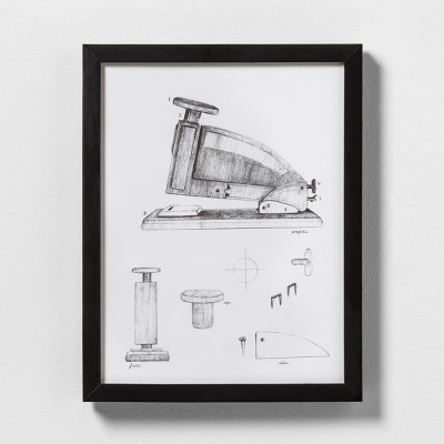 11  X 14  Stapler Wall Art with Black Wood Frame - Hearth & Hand™ with Magnolia