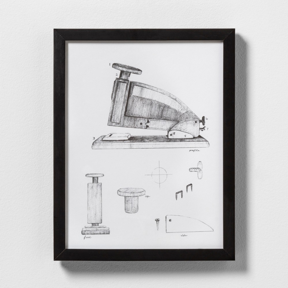 "Image of ""11"""" X 14"""" Stapler Wall Art with Black Wood Frame - Hearth & Hand with Magnolia"""