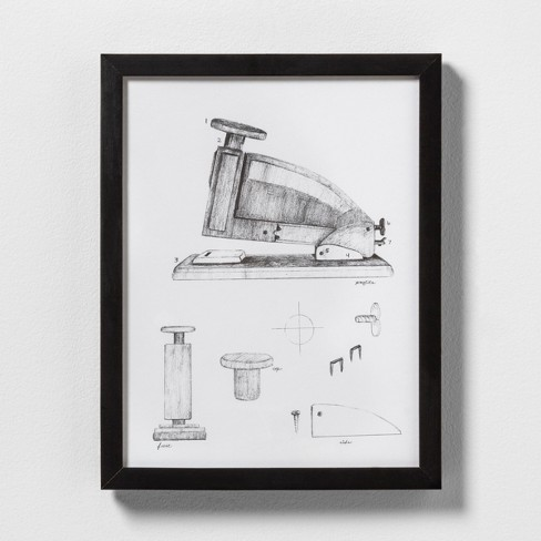 Stapler Wall Art with Frame - Hearth & Hand™ with Magnolia - image 1 of 1