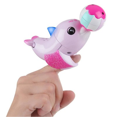 Fingerlings Baby Light-up Dolphin - Jules (Pink) - Interactive Toy