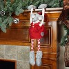 "Northlight 20"" Red and Gray Merry Mouse Hanging Mantle Christmas Decor - image 2 of 3"