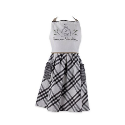 Cotton Home Sweet Farmhouse Apron Black - Design Imports