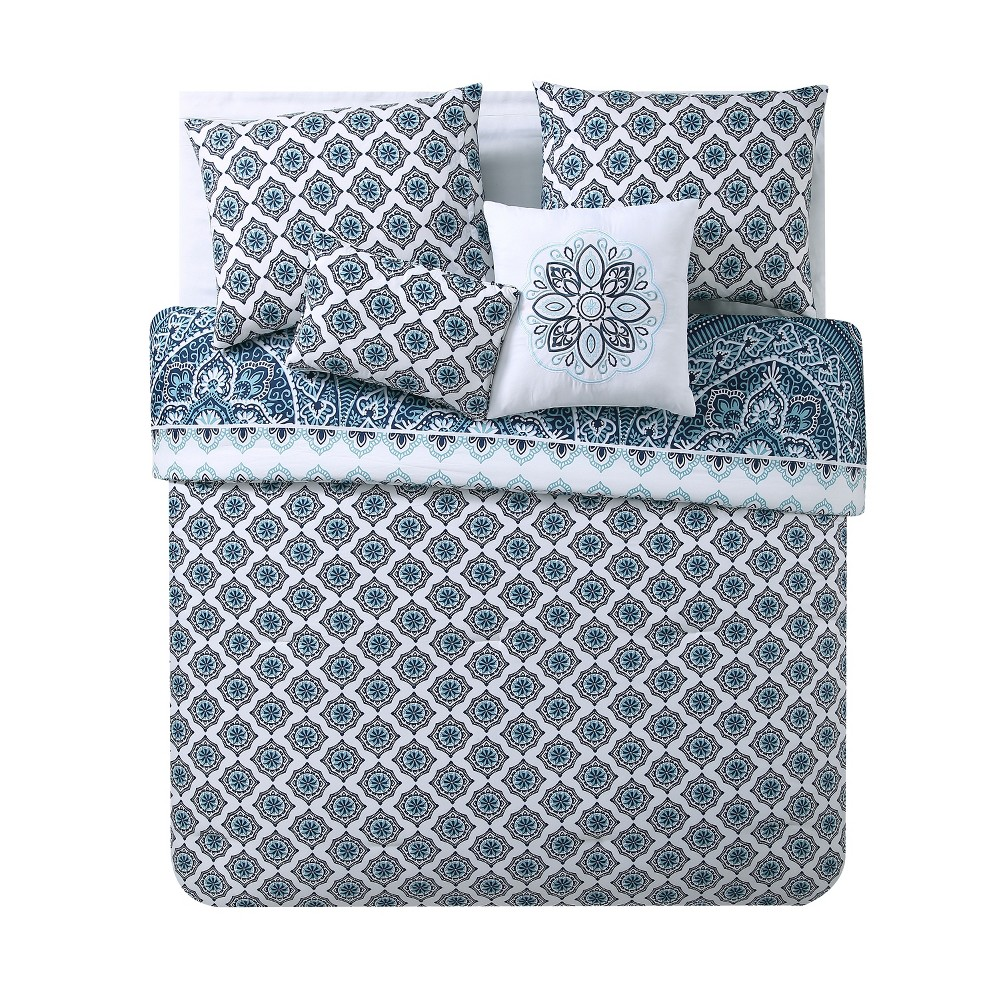 Twin XL 4pc Sullivan Comforter Set Blue - Vcny Home