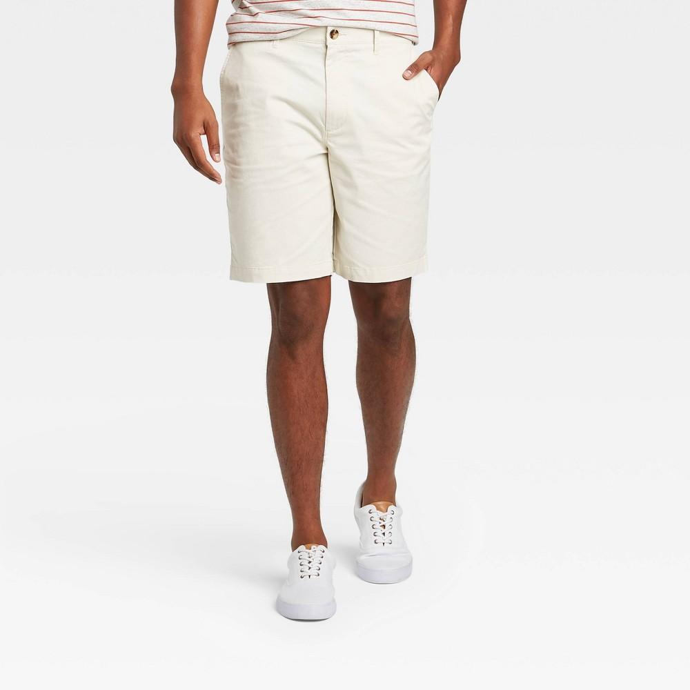 Men 39 S 9 34 Linden Flat Front Shorts Goodfellow 38 Co 8482 Light Cream 40