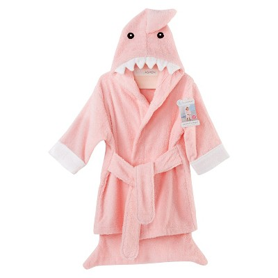 Baby Aspen Let the Fin Begin Terry Shark Robe - Pink (12-18 months)