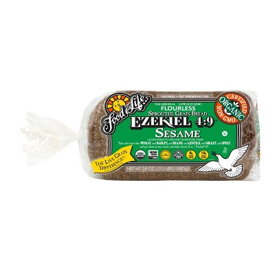Food For Life Ezekiel 4:9 Organic Frozen Sprouted Whole Grain Sesame Bread - 24oz