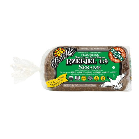 Food For Life Ezekiel 4:9 Organic Frozen Sprouted Whole Grain Sesame Bread - 24oz - image 1 of 3