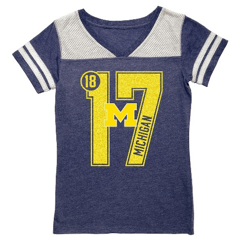 NCAA Michigan Wolverines Girls' V-Neck Tunic Shirt - XL - image 1 of 1