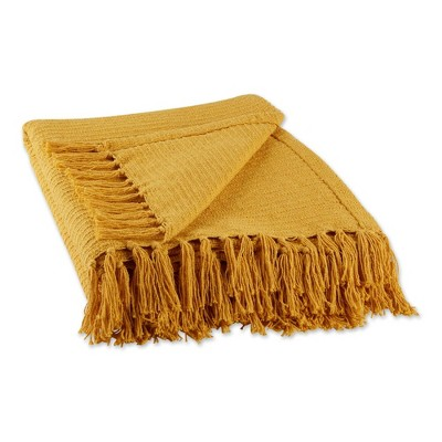"50""x60"" Solid Ribbed Throw Blanket - Design Imports"