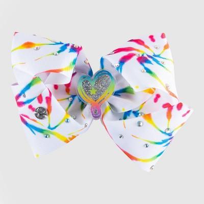 Girls' JoJo Siwa Tie-Dye Bow Hair Clip with Glitter Shaker