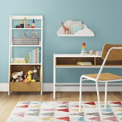 Bly Kids Bookshelf With Toy Storage Bin White   Pillowfort™ : Target