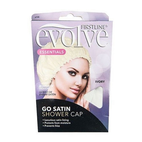 Evolve Satin Lined Shower Cap - Ivory - image 1 of 1