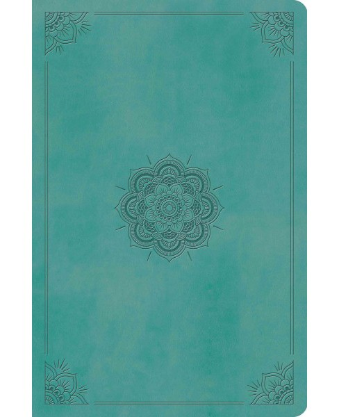 Holy Bible : English Standard Version, Value Compact Bible, Trutone Turquoise, Emblem Design (Paperback) - image 1 of 1