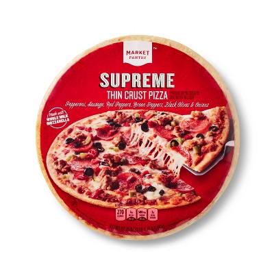 Thin Crust Supreme Frozen Pizza - 17.75oz - Market Pantry™