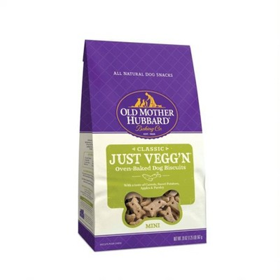 Old Mother Hubbard Vegetarian Classic Crunchy Just Vegg'N Biscuits Mini Oven Baked Dog Treats - 20oz