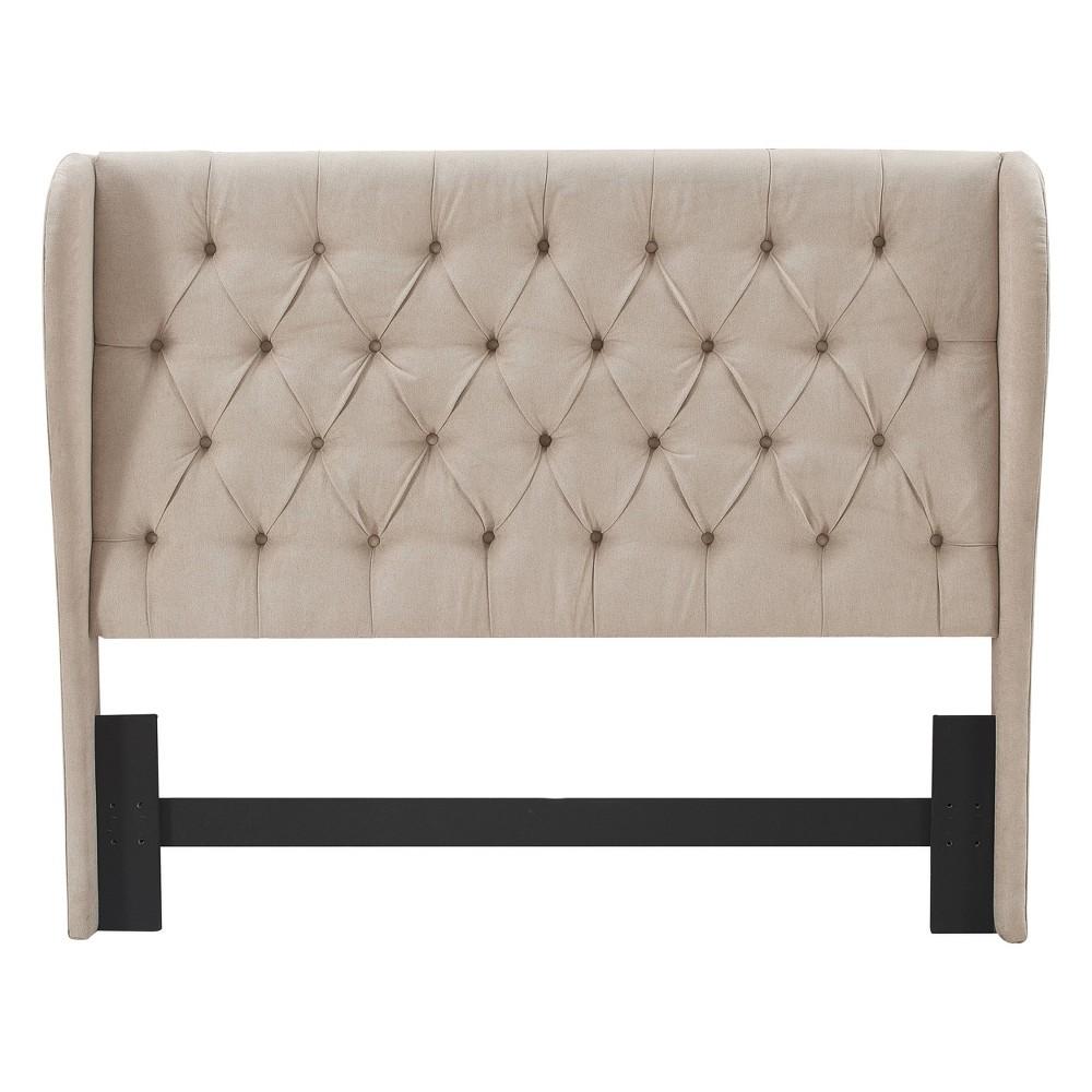 Image of Queen Harlow Upholstered Headboard Beige - Lillian August