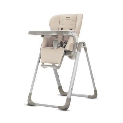 Inglesina AZ91K9BTTUS/D MyTime Adjustable Toddler Foldable High Chair with Removable Serving Tray, 5 Point Safety Harness, and Reclining Seat, Butter