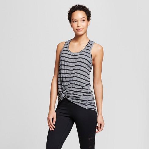 22251e55f7f5 Women s Striped Graphic Tank Top - C9 Champion® Light Heather Gray ...