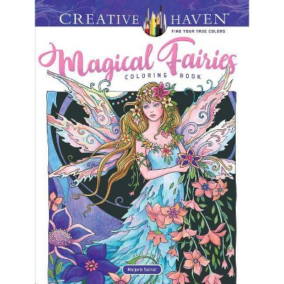 - Adult Coloring Book Creative Haven Magical Fairies Coloring Book -  (Creative Haven Coloring Books) : Target