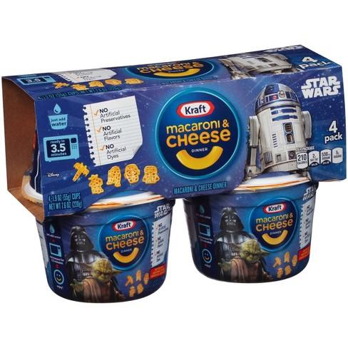 Kraft Easy Mac Star Wars Shapes Macaroni & Cheese - 7.6oz/4pk - image 1 of 4