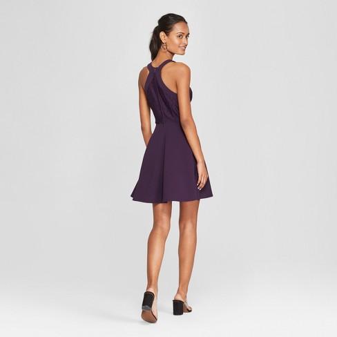 8b20df6c9 Women's Sleeveless Lace Skater Dress - Lots Of Love By Speechless (Juniors')  Plum : Target