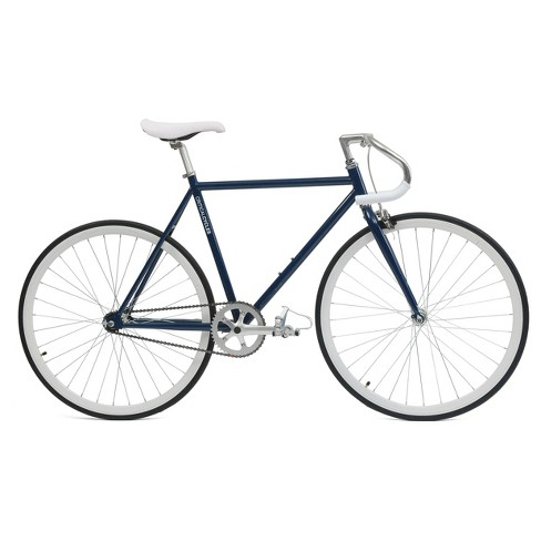 "Critical Cycles Fixie 27"" Fixed Gear Road Bike with Pista Bars - Navy Blue - image 1 of 4"