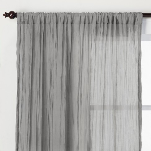 Crushed Sheer Curtain Panel - Opalhouse™ - image 1 of 4