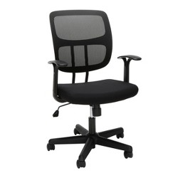 Adjustable Mesh Office Chair with Arms Black - OFM