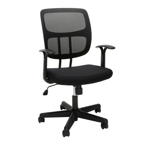 Astounding Adjustable Mesh Office Chair With Arms Black Ofm Home Interior And Landscaping Transignezvosmurscom