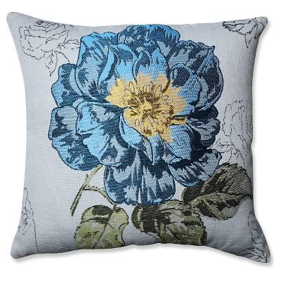 "Pillow Perfect Flower Jacquard Throw Pillow - Off-White (16.5"")"