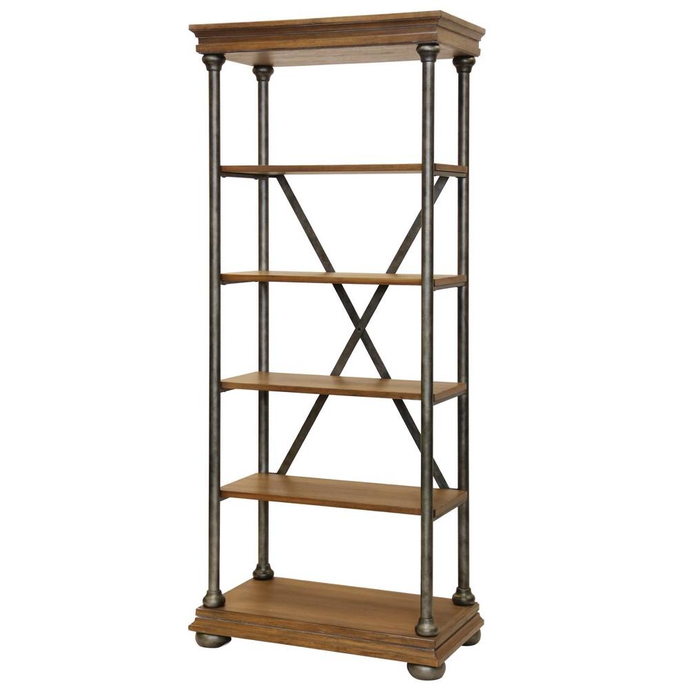 82 5 Shelf Bookcase Brown - Stylecraft