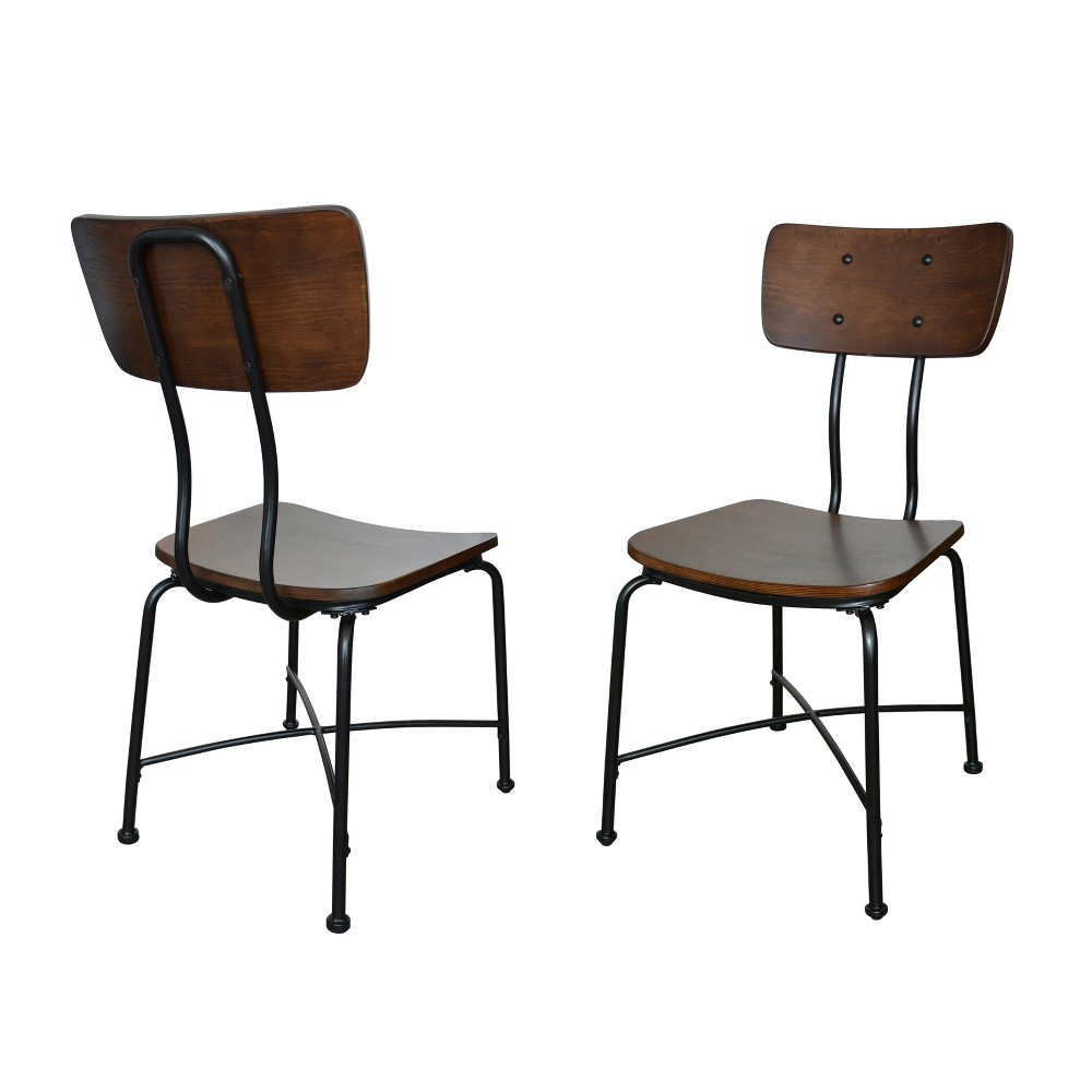 Forza Set of Dining Chair Set of 2 Black - Carolina Chair and Table
